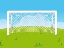 Cartoon goalposts with a net vector illustration