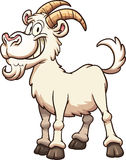 Cartoon goat. Happy cartoon goat. Vector clip art illustration with simple gradients. All in a single layer Stock Image