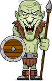 Cartoon Goblin Spear Stock Photo