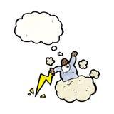 Cartoon god on cloud Stock Photos