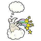Cartoon god on cloud Stock Photo