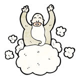 Cartoon god on cloud Royalty Free Stock Images