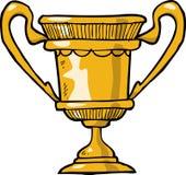 Cartoon gold cup Stock Photography