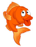 Cartoon Gold Fish or Gold Fish Character Stock Photography