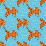 Cartoon gold fish Royalty Free Stock Image
