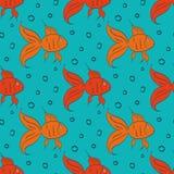 Cartoon gold fish Royalty Free Stock Photo