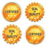 Cartoon Gold Premium Quality Seals Stock Photography