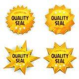 Cartoon Gold Premium Quality Seals Royalty Free Stock Photos