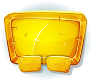 Cartoon Gold Sign For Ui Game Royalty Free Stock Images