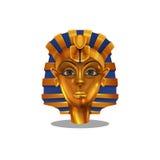 Cartoon golden achievement, Egyptian pharoah woman figurine isolated. On white background. Vector illustration Royalty Free Stock Image