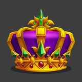 Cartoon golden crown icon. Game trophy asset. Stock Image