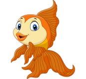 Cartoon golden fish Royalty Free Stock Photos