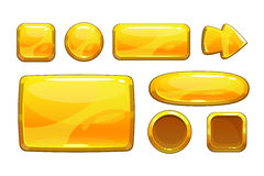 Cartoon golden game assets Royalty Free Stock Images