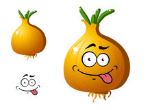 Cartoon golden onion vegetable Royalty Free Stock Photography
