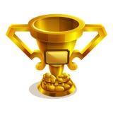 Cartoon golden trophy. Stock Photos