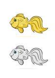 Cartoon goldfish Royalty Free Stock Image
