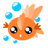 Cartoon goldfish illustration Royalty Free Stock Photo