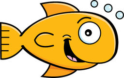 Cartoon goldfish Royalty Free Stock Photo