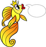 Cartoon goldfish Stock Image