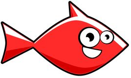Cartoon goldfish isolated Stock Images