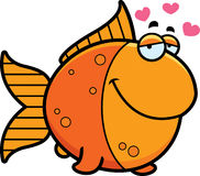 Cartoon Goldfish in Love Royalty Free Stock Photography