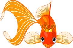 Cartoon Goldfish queen Stock Photography