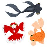 Cartoon goldfish Royalty Free Stock Photos