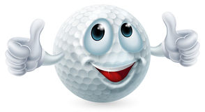 Cartoon golf ball character Royalty Free Stock Image
