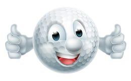 Cartoon Golf Ball Mascot Stock Photo