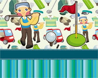 Cartoon golf card Stock Photography