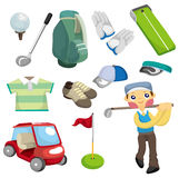 Cartoon golf equipment icon Royalty Free Stock Image