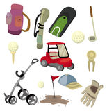 Cartoon golf icon Stock Photo