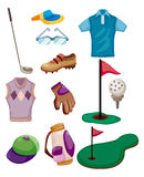 Cartoon golf icon Royalty Free Stock Photography