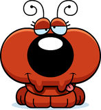 Cartoon Goofy Ant. A cartoon illustration of a little ant with a goofy expression Royalty Free Stock Image