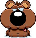 Cartoon Goofy Bear Cub Stock Photography
