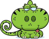 Cartoon Goofy Chameleon. A cartoon illustration of a chameleon with a goofy expression Royalty Free Stock Photo