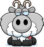 Cartoon Goofy Goat stock illustration