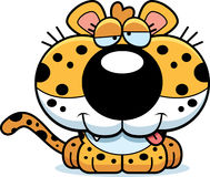 Cartoon Goofy Leopard Royalty Free Stock Image