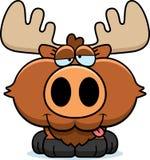 Cartoon Goofy Moose Stock Image