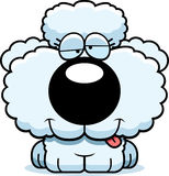 Cartoon Goofy Poodle. A cartoon illustration of a poodle puppy with a goofy expression stock illustration
