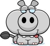 Cartoon Goofy Rhinoceros Stock Photography