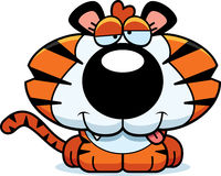 Cartoon Goofy Tiger Cub Royalty Free Stock Photos