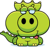 Cartoon Goofy Triceratops Royalty Free Stock Photos