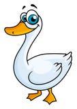 Cartoon goose with big eyes Royalty Free Stock Photos