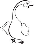 Cartoon goose Royalty Free Stock Photo