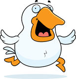 Cartoon Goose Running Stock Images