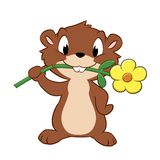 Cartoon Gopher Royalty Free Stock Photos