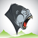 Cartoon gorilla Royalty Free Stock Image