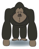 Cartoon Gorilla Royalty Free Stock Photography