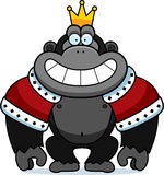 Cartoon Gorilla King Stock Image